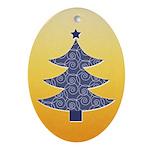 Blue & Orange Seasonal Oval Ornament