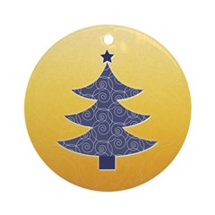 Blue & Orange Seasonal Ornament (Round)