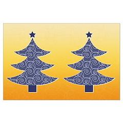 Blue & Orange Seasonal Posters