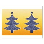 Blue & Orange Seasonal Small Poster