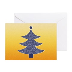 Blue & Orange Seasonal Greeting Cards (Pk of 20)
