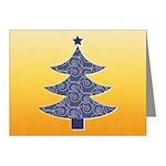 Blue & Orange Seasonal Note Cards (Pk of 10)