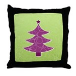 Purple & Green Seasonal Throw Pillow