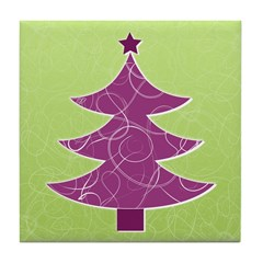 Purple & Green Seasonal Tile Drink Coaster