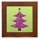 Purple & Green Seasonal Framed Tile