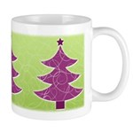Purple & Green Seasonal Ceramic Coffee Mug