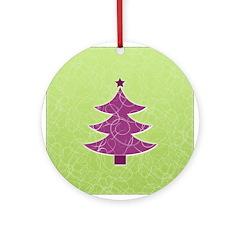 Purple & Green Seasonal Ornament (Round)