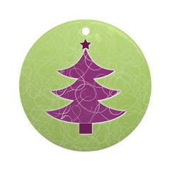 Purple & Green Seasonal Ornament (Round)