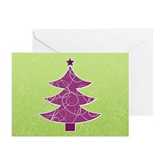 Purple & Green Seasonal Greeting Cards (Pk of 20)