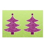 Purple & Green Seasonal Postcards (Package of 8)