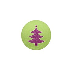 Purple & Green Seasonal Mini Button