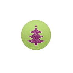 Purple & Green Seasonal Mini Button