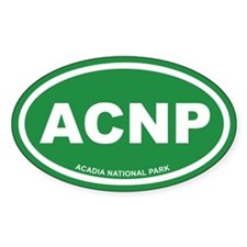 Acadia National Park Green Euro Oval Decal