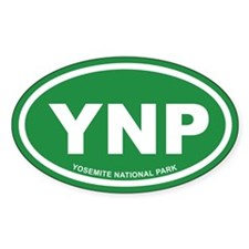Green Yosemite National Park Euro Oval Decal