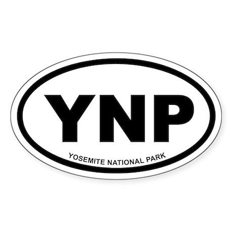 Yosemite National Park Euro Oval Sticker