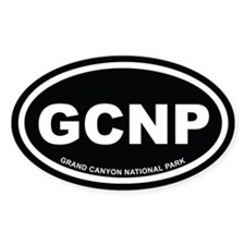 Black Grand Canyon National Park Oval Decal