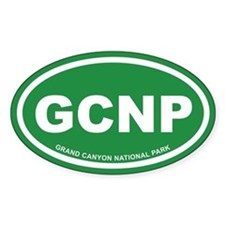 Green Grand Canyon National Park Oval Decal
