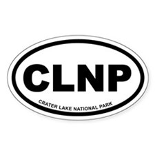 Crater Lake National Park Euro Oval Decal