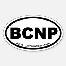 Bryce Canyon National Park Euro Oval Decal