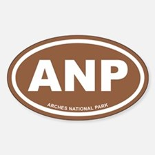 Arches National Park Brown Euro Oval Decal