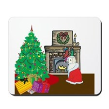 Santa Yellow Lab Mousepad