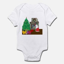 Santa Yellow Lab Infant Bodysuit
