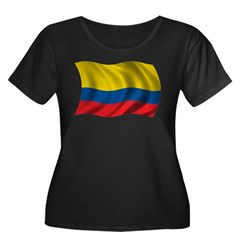 Wavy Colombia Flag T