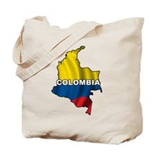 Map Of Colombia Tote Bag