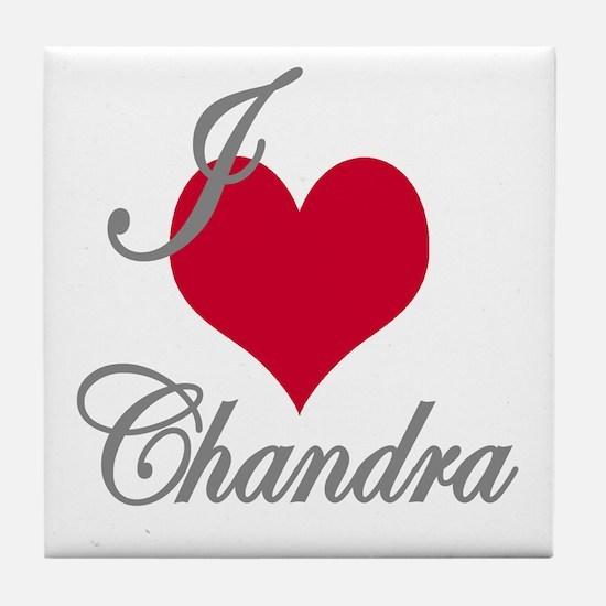 I love (heart) Chandra Tile Coaster