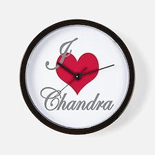 I love (heart) Chandra Wall Clock