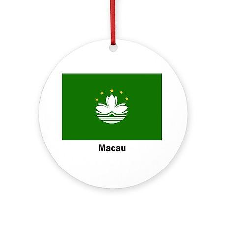 Macau Flag Keepsake (Round)