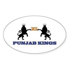 Punjab Kings 11 Oval Decal