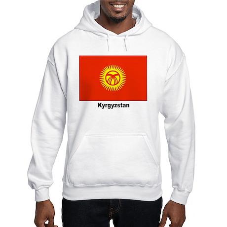 Kyrgyzstan Flag Hooded Sweatshirt
