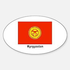 Kyrgyzstan Flag Oval Decal