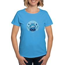 Cool Vintage Women's Caribbean Blue T-Shirt