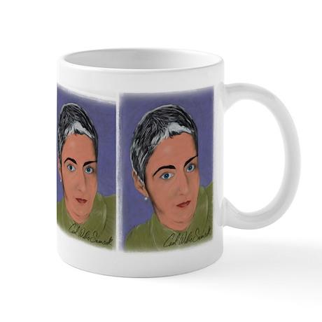 Woman with White Hair Mug