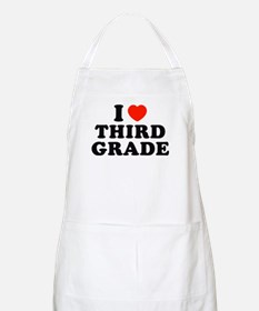 I Heart/Love Third Grade BBQ Apron