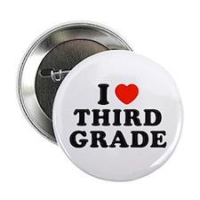 """I Heart/Love Third Grade 2.25"""" Button"""