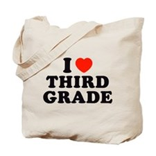 I Heart/Love Third Grade Tote Bag