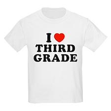 I Heart/Love Third Grade T-Shirt