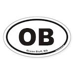 Ocean Bluff OB Euro Oval Sticker