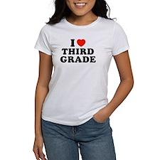 I Heart/Love Third Grade Tee