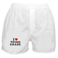 I Heart/Love Third Grade Boxer Shorts