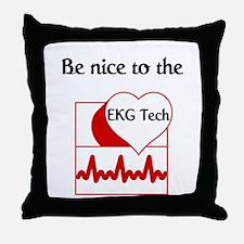 EKG Tech Throw Pillow