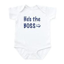 HE'S THE BOSS-RIGHT Infant Bodysuit