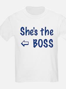 SHE' THE BOSS-LEFT T-Shirt