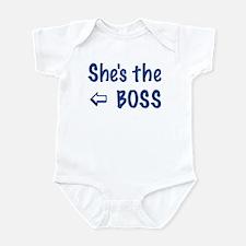 SHE' THE BOSS-LEFT Infant Bodysuit