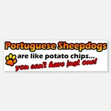 Potato Chips Portuguese Sheepdog Bumper Bumper Bumper Sticker