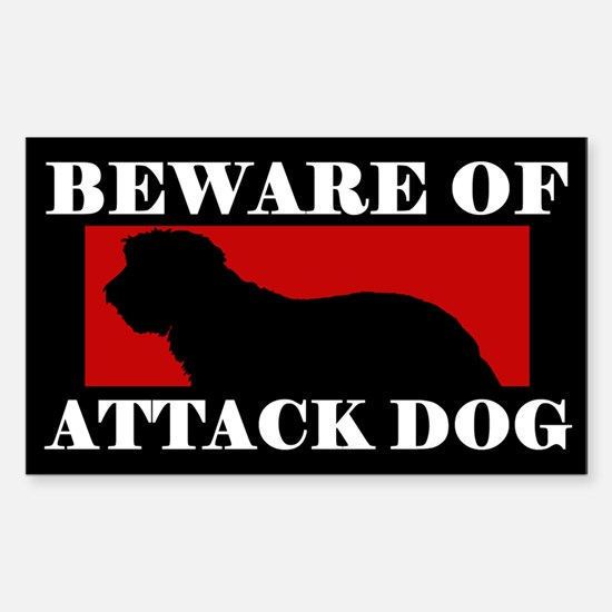 Beware of Attack Dog Portuguese Sheepdog Decal