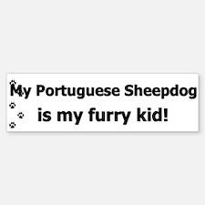 Portuguese Sheepdog Furry Kid Bumper Bumper Bumper Sticker